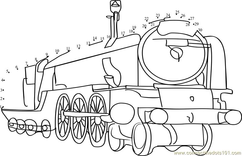steam train dot to dot printable worksheet