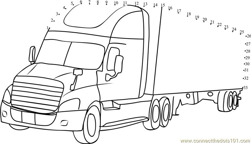 Daimler Truck Dot To Dot Printable Worksheet