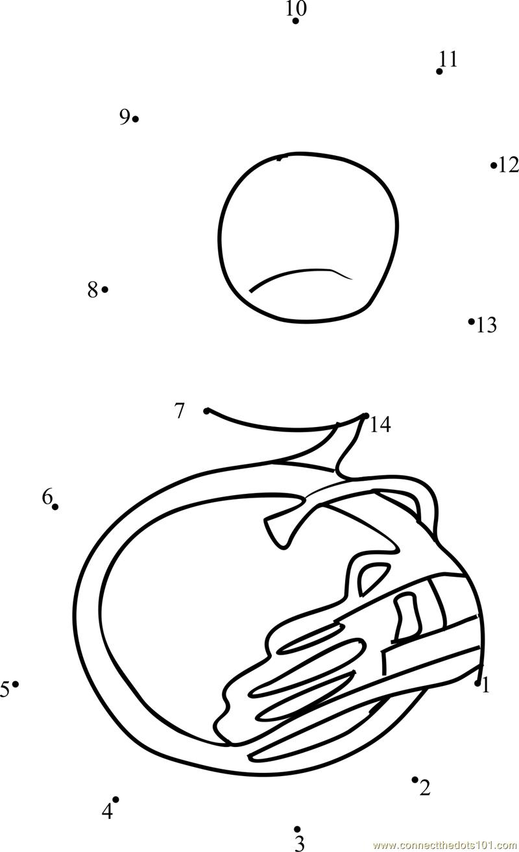 sousaphone tuba dot to dot printable worksheet connect the dots