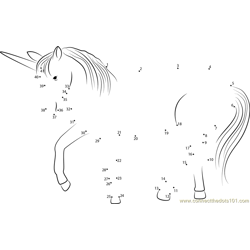 Unicorn Look Dot to Dot Worksheet