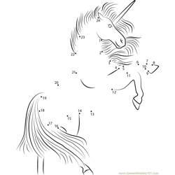 Unicorn Up Dot to Dot Worksheet