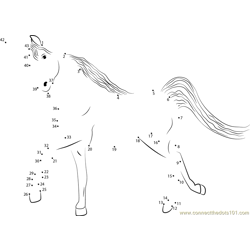 Unicorn Dot to Dot Worksheet