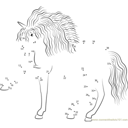 Unicorn of the Butterflies Yorkshire Rose Dot to Dot Worksheet