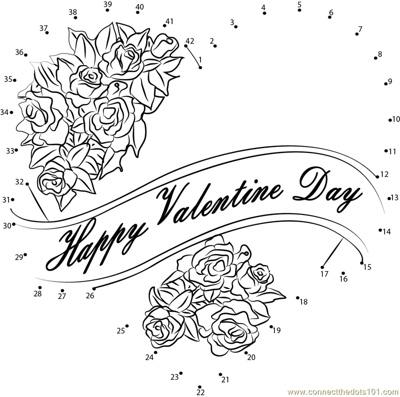 Happy Valentine S Day Everyone Dot To Dot Printable Worksheet