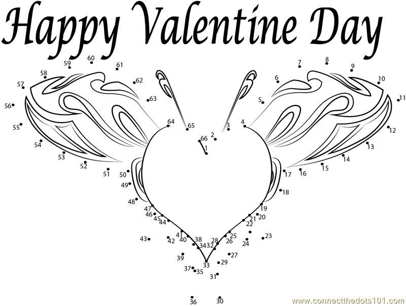 valentine connect the dots coloring pages - photo #46