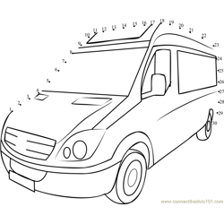 Fridge Van Dot to Dot Worksheet