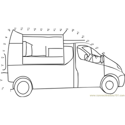 Mobile Catering Van Dot to Dot Worksheet