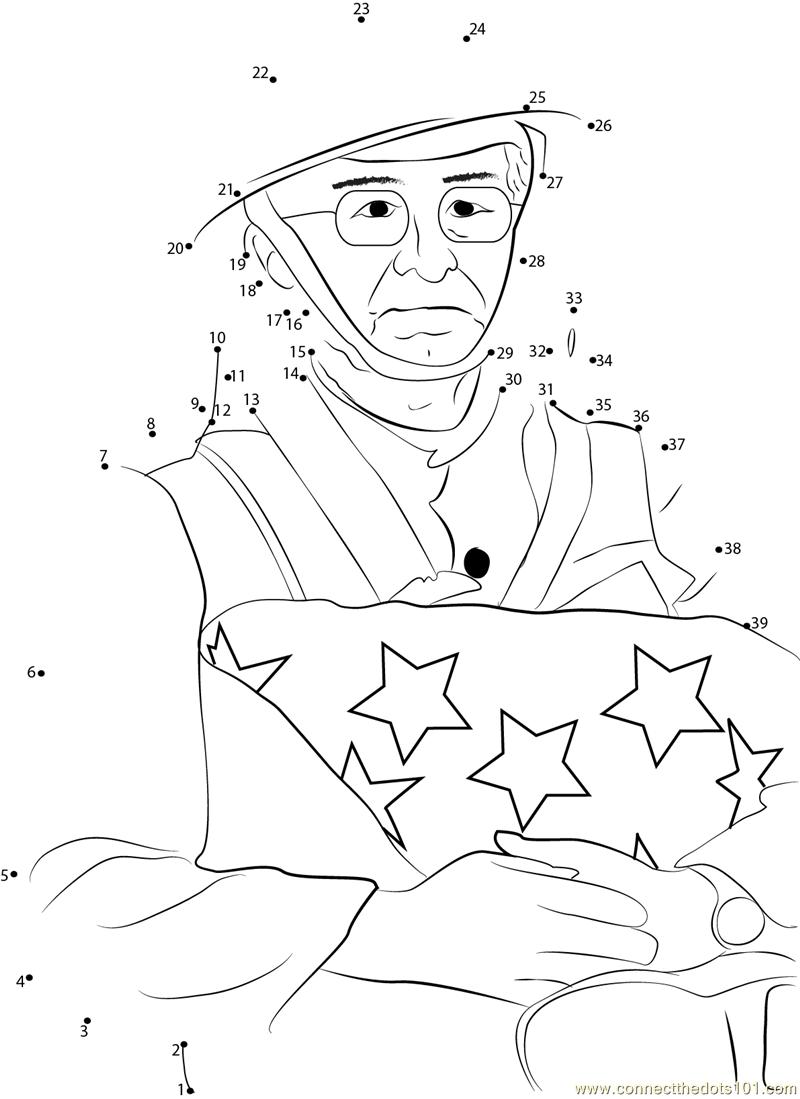 Happy Veterans Day Dot To Dot Printable Worksheet