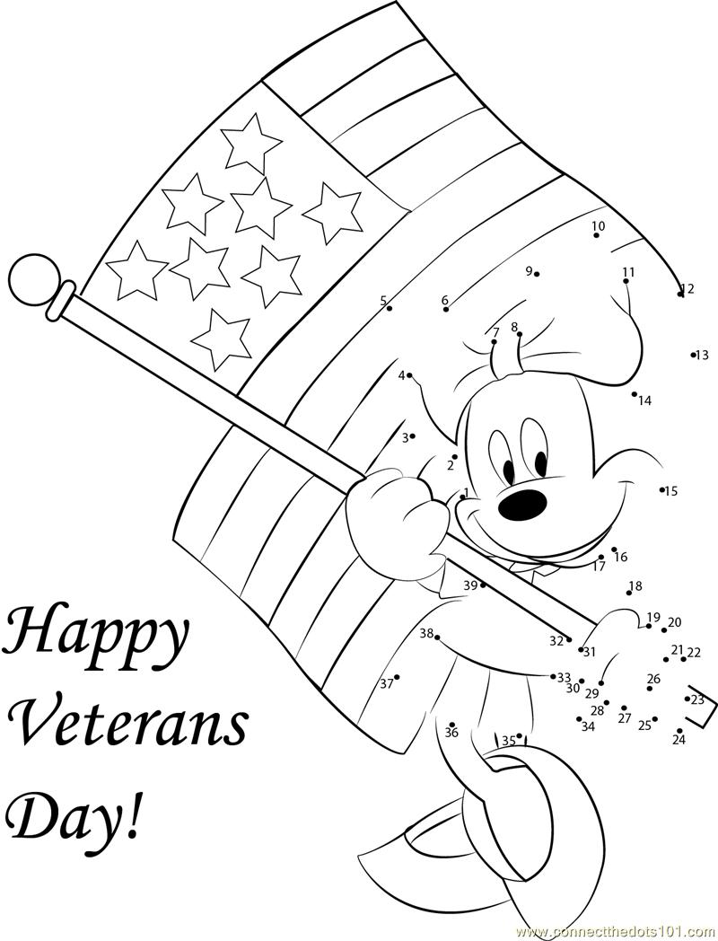 Veterans Day dot to dot printable worksheet Connect The Dots – Veterans Day Worksheets