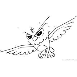 Owl Animal Jam Dot to Dot Worksheet