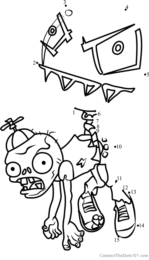Balloon Zombie Dot To Dot Printable Worksheet Connect