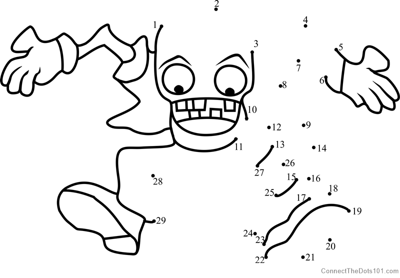 bungee zombie dot to dot printable worksheet connect the dots. Black Bedroom Furniture Sets. Home Design Ideas