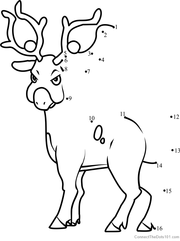 stantler pokemon coloring pages - photo#6