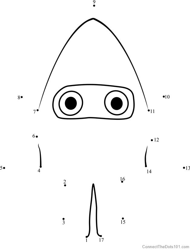 Blooper From Super Mario Dot To Dot Printable Worksheet