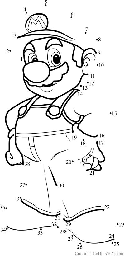 Mario from Super Mario dot to dot