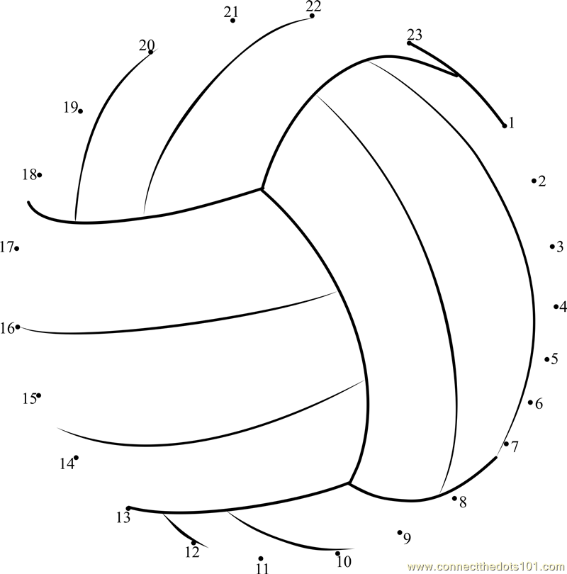 Volleyball dot to dot printable worksheet Connect The Dots – Volleyball Worksheets