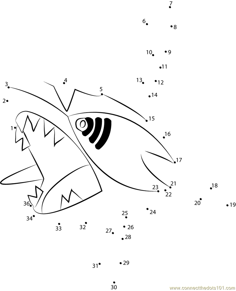 water pokemon Connect The Dots printable worksheets