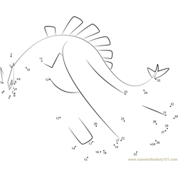 Lugia Water Pokemon Dot to Dot Worksheet