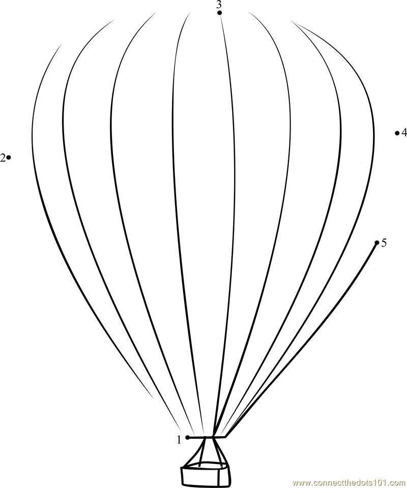 hot air balloon coloring page pdf - hot air balloon flight dot to dot printable worksheet
