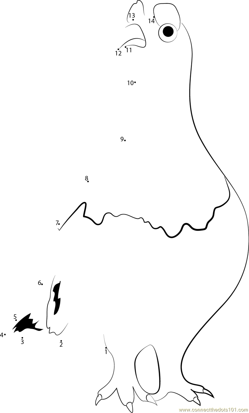 Alaska State Bird dot to dot printable