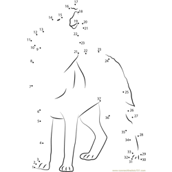Wolf Howlsnow Dot to Dot Worksheet