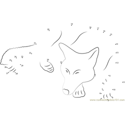 Wolf Sleep by Hecallsmelovedeath Dot to Dot Worksheet
