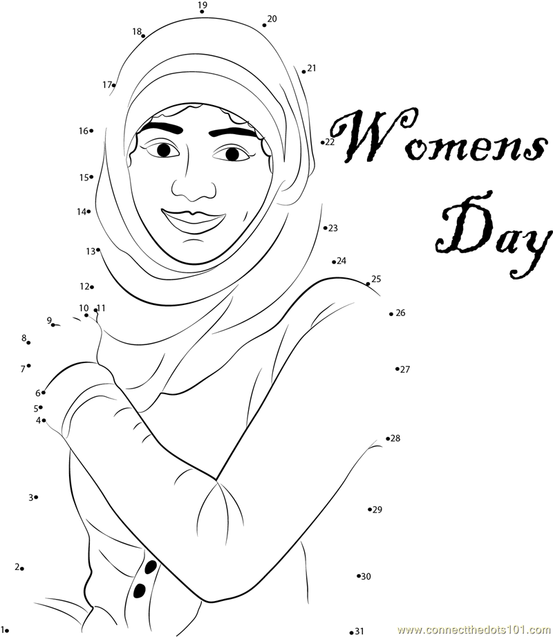 Best Women 39 s Day dot to dot printable