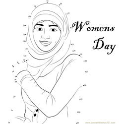 Best Women's Day Dot to Dot Worksheet