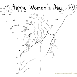 Gorgeous Women's Day Dot to Dot Worksheet