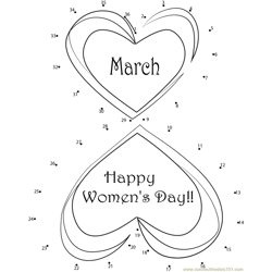 Happy International Women's Day Dot to Dot Worksheet