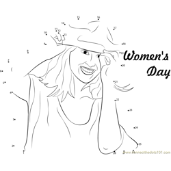 Women's Day Feel Better Dot to Dot Worksheet