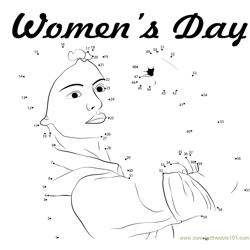 Women's Day Dot to Dot Worksheet