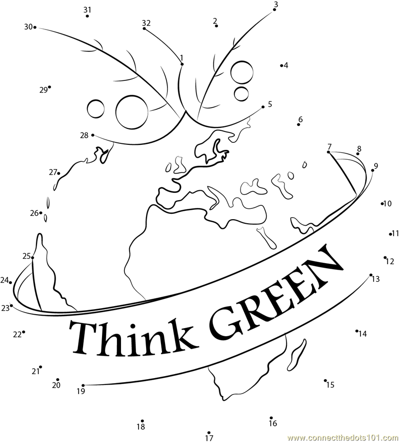 think green dot to dot printable worksheet connect the dots. Black Bedroom Furniture Sets. Home Design Ideas