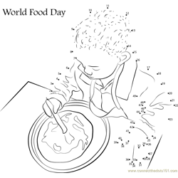 ... World Food Day dot to dot printable worksheet - Connect The Dots