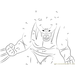 Violent Wolverine Dot to Dot Worksheet