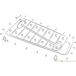 Baby Xylophone Dot to Dot Worksheet