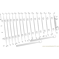 Wooden Xylophone 2 Dot to Dot Worksheet