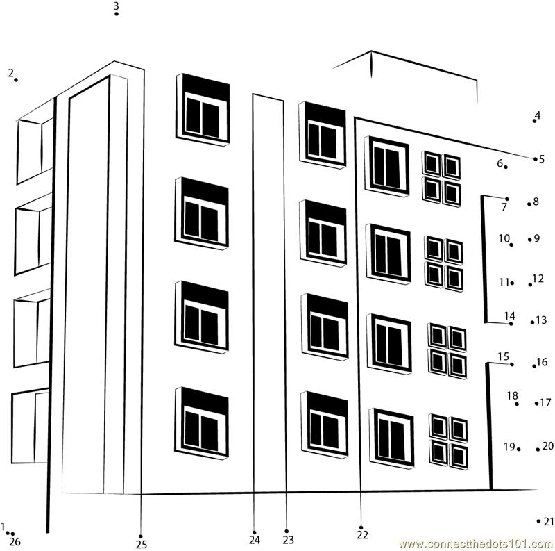 back apartment building page 1 apartment building page 2 - Apartment Building Coloring Pages
