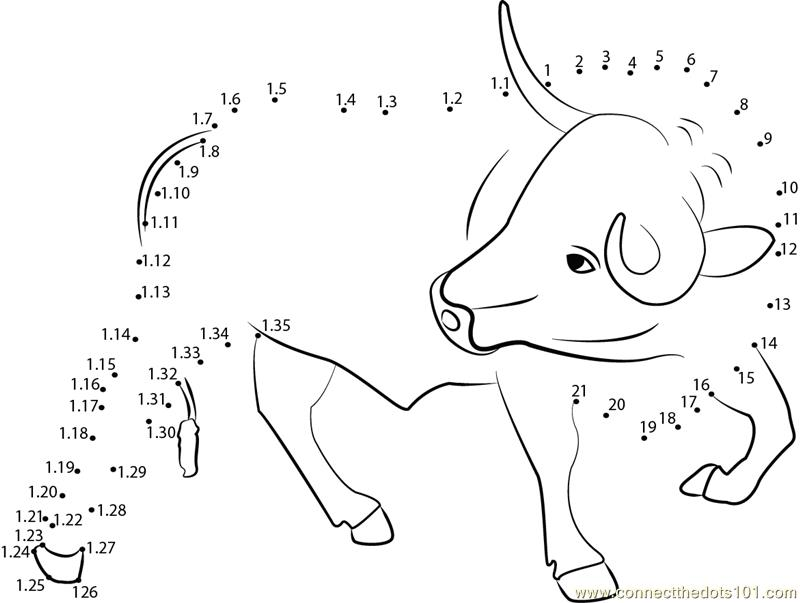 Connect The Dots Smart Bull (Animals > Bull)