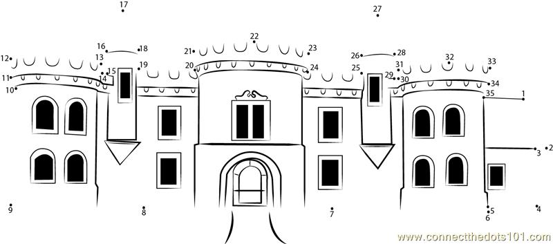 Connect The Dots Raglan Castle (Architecture > Castle