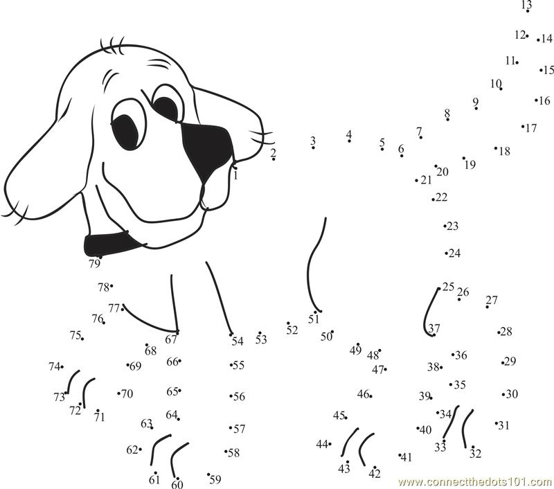 Dot To Dot Clifford Coloring Pages