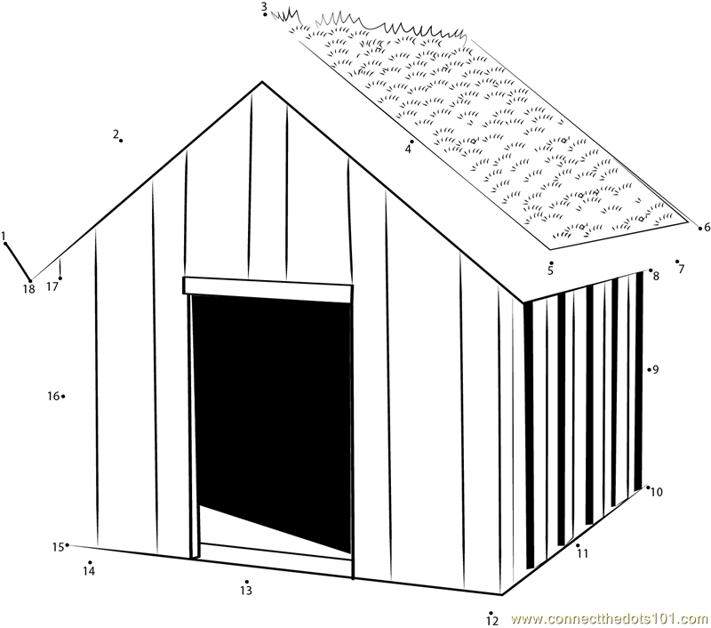 Connect The Dots Green Dog House Architecture Dog House