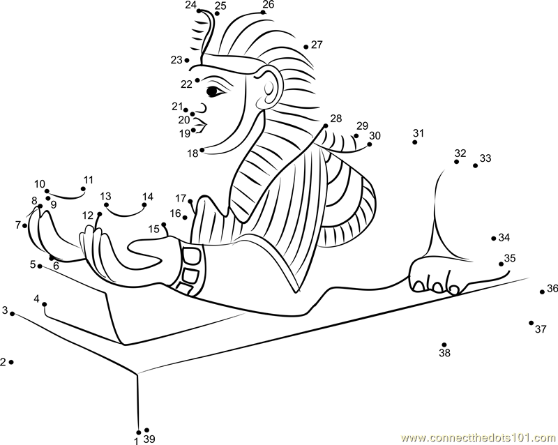 Egyptian Art Dot To Dot Printable Worksheet Connect The Dots