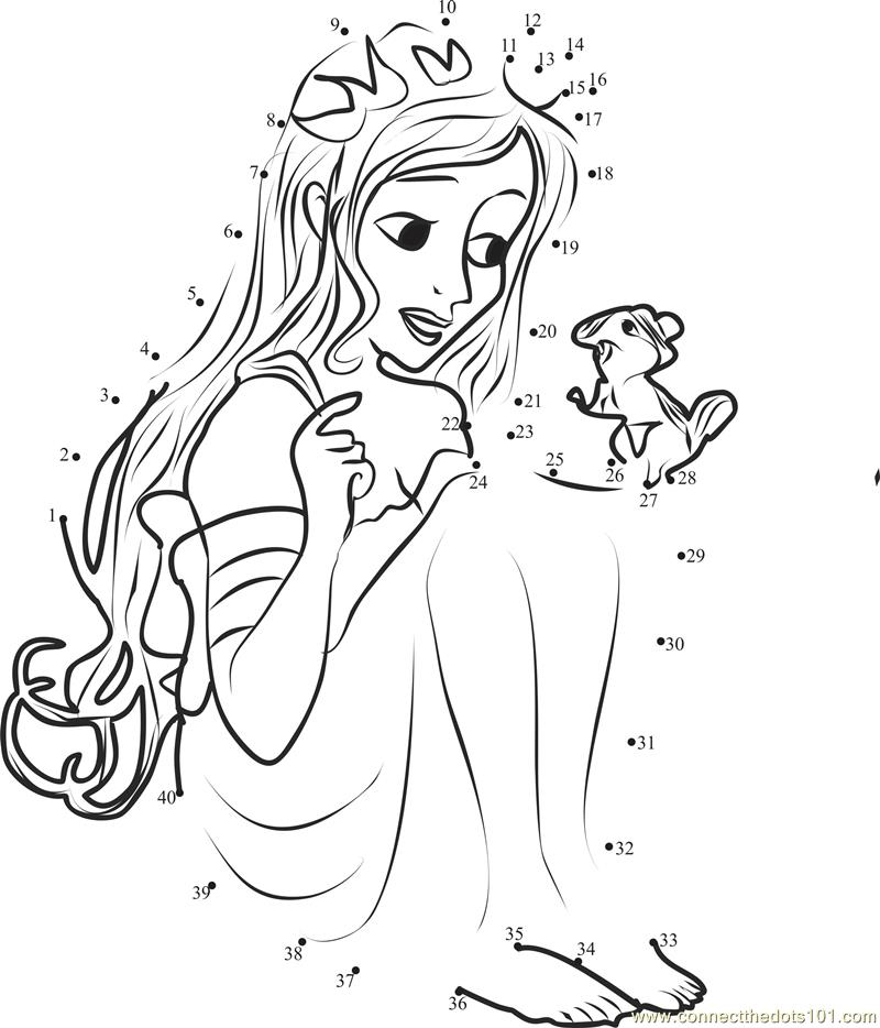 Pics Photos - Dot To Dot Printables Princess