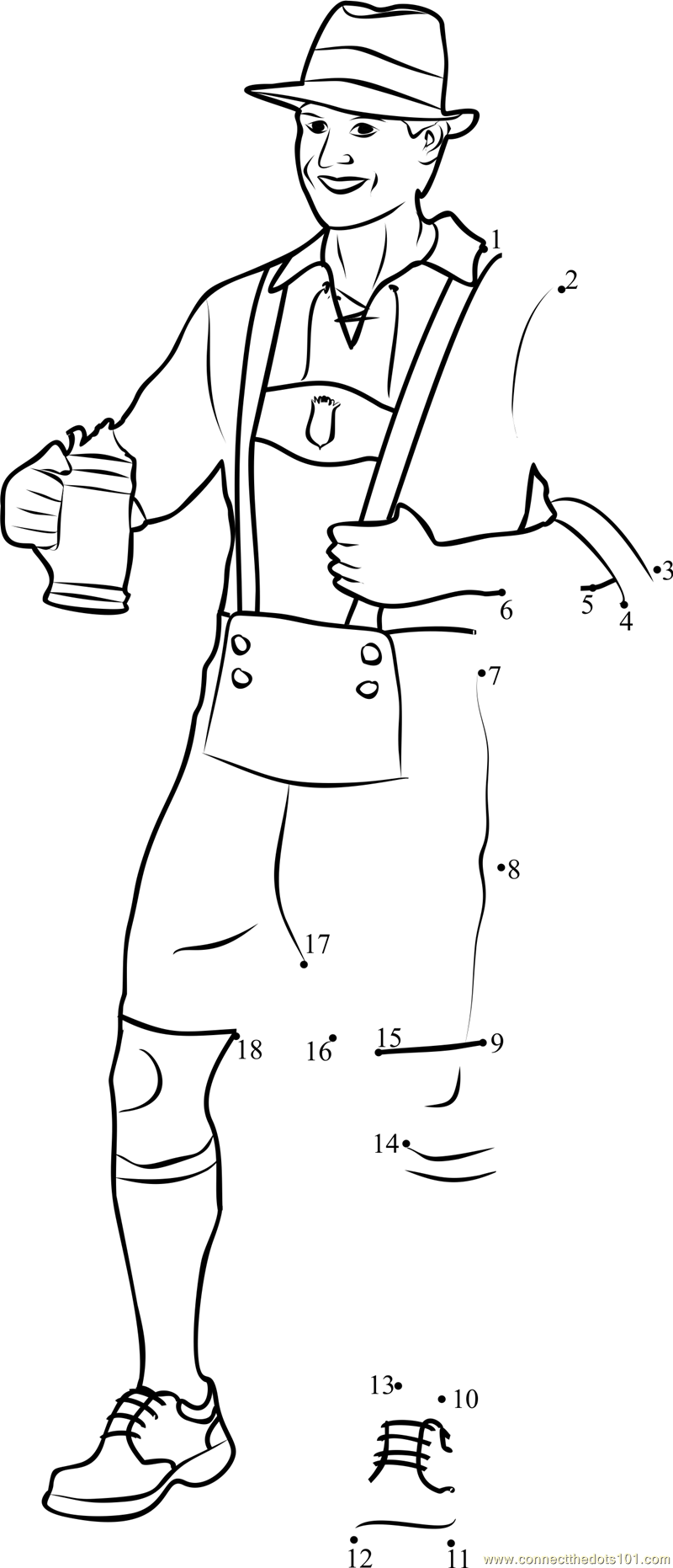 Free Coloring Pages Of German Clothing