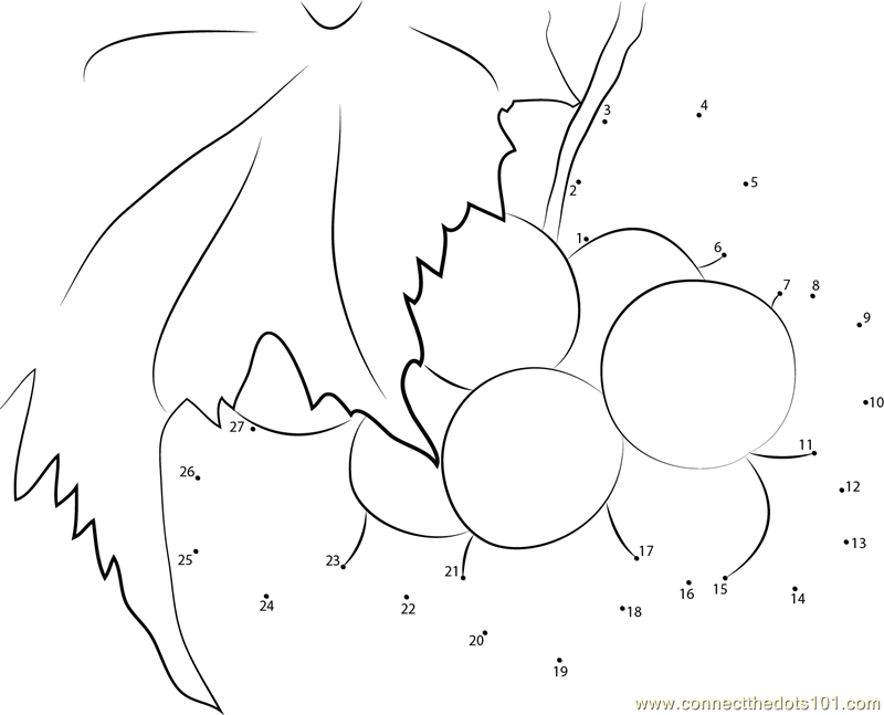 Free coloring pages of grapes tree