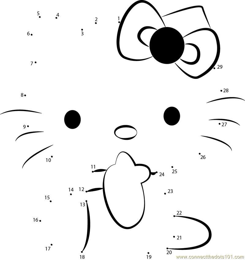 Connect The Dots Hello Kitty 1 Cartoons Gt Hello Kitty