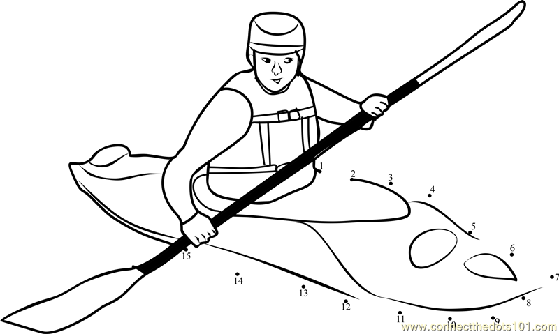 canoe coloring pages | Kayak Coloring Pages - Kidsuki