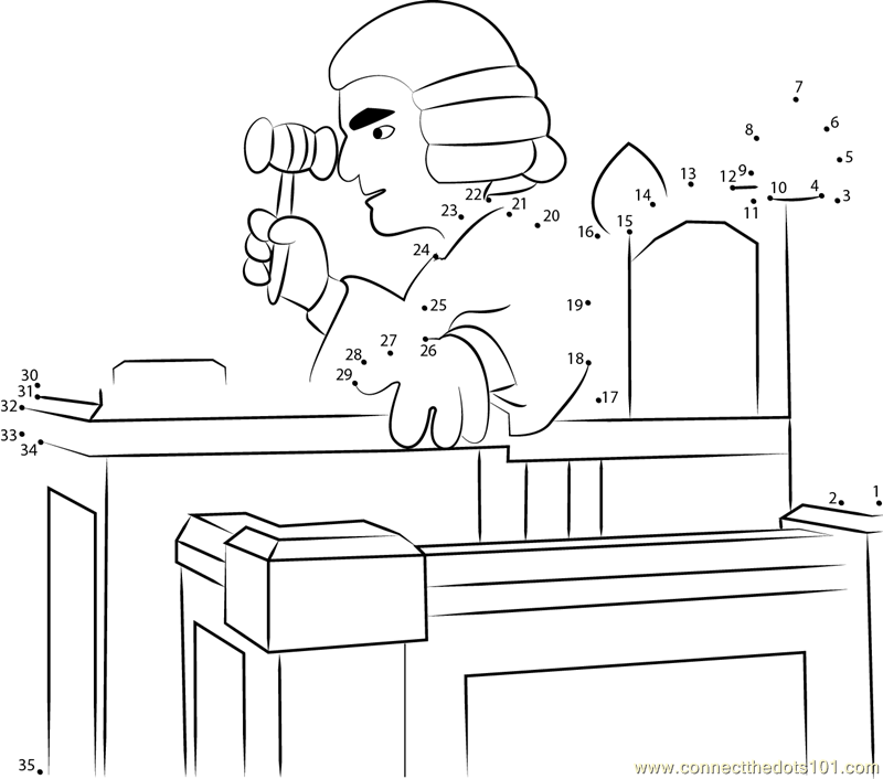 Printable Coloring Picture Of A Judge Coloring Pages