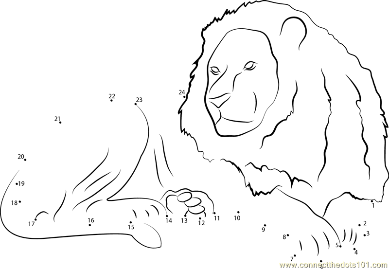 Top Lion Dot To Dot Printable Images For Pinterest Tattoos